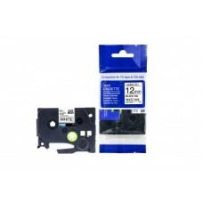 Brother AZE-FX231 uzlīmju lente flexible melns uz balta 12mm x 8 metri