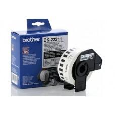 Brother DK-22211 Līmplēve, melns uz balta 29mm*15.24m