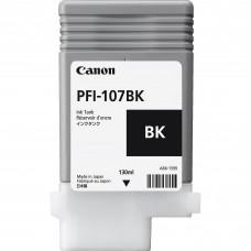 Canon PFI-107BK melnās tintes kasete, 130 ml
