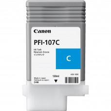 Canon PFI-107C zilās tintes kasete, 130 ml