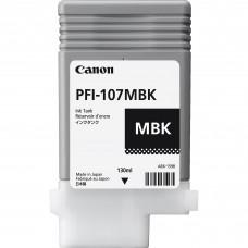 Canon PFI-107MBK matētas melnās tintes kasete, 130 ml