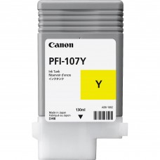 Canon PFI-107C dzeltenās tintes kasete, 130 ml