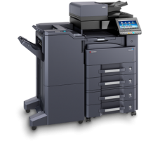 Kyocera TASKalfa 4012i Melnbalta daudzfunkciju drukas iekārta A4/A3 formāta ar dokmentu padevēju DP-7100 un metāla paliktni CB-811
